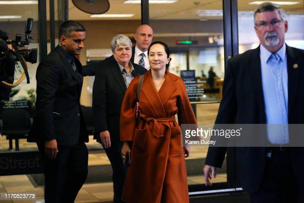 Huawei Technologies Co. Chief Financial Officer, Meng Wanzhou, leaves the British Columbia Superior Court on September 23, 2019 in Vancouver, Canada....