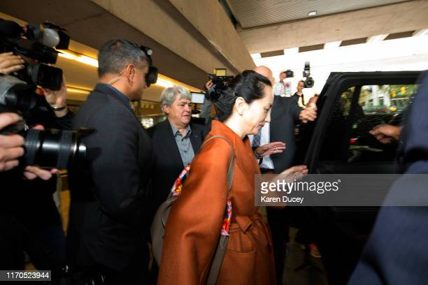 Huawei Technologies Co. Chief Financial Officer, Meng Wanzhou, leaves the British Columbia Superior Courts during lunch hour on September 23, 2019 in...