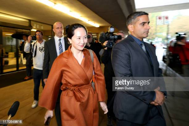 Huawei Technologies Co Chief Financial Officer Meng Wanzhou leaves the British Columbia Superior Court on September 23 2019 in Vancouver Canada...