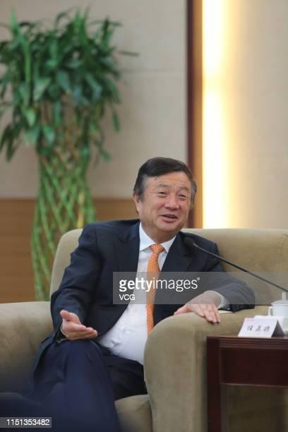Huawei Technologies Co., Ltd CEO Ren Zhengfei attends a meeting on December 23, 2013 in Xi an, Shaanxi Province of China.