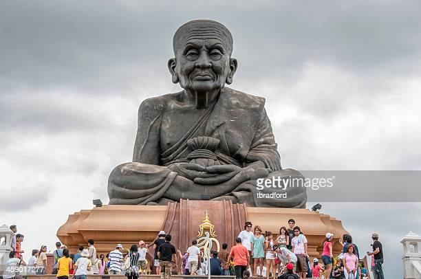 huay mongkol temple near hua hin in thailand - theravada stock pictures, royalty-free photos & images