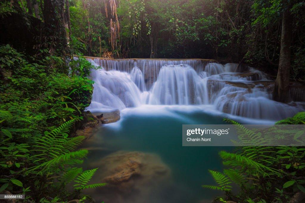 Huaymaekamin waterfall, Thailand : Stock Photo