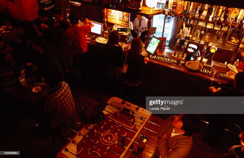 Hub, gaijin (foreigner) bar, Kiyamachi Street. : Stock Photo