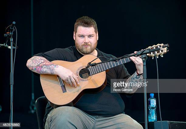 Hubbert peforms on the main stage at the Wickerman festival at Dundrennan on July 25, 2015 in Dumfries, Scotland