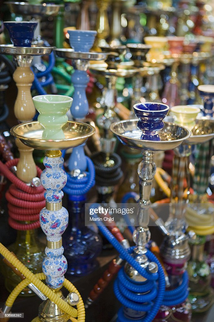Hubble Bubble Pipes For Sale In Souk Stock Photo - Getty ...