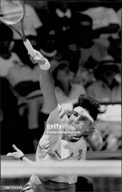 Huber Vs Sanchez VicarioSanchezVicarioOne To Go Arantxa Sanchez Vicario powers her way to victory against Anke Huber final January 12 1992