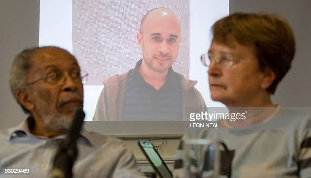 Hubert and Lynn Dixon attend a press conference to appeal for information on their missing son, Michael, in central London, on November 13, 2009. The...