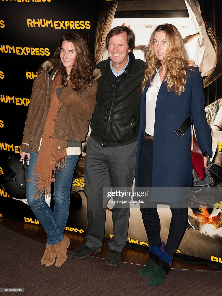 Hubert Auriol with daughters Jenna and Leslie attend the 'Rhum... News  Photo - Getty Images