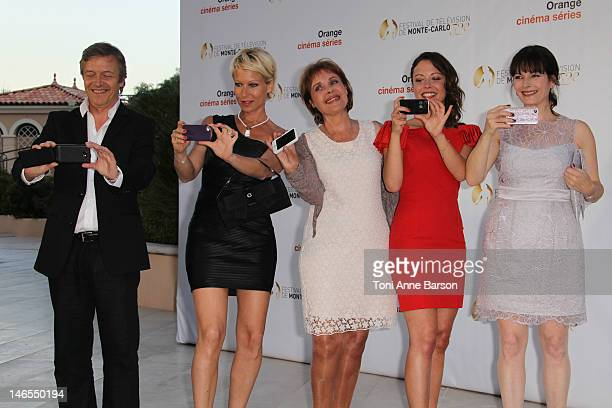 Hubert Besson Rebecca Hampton Pascale Roberts Dounia Coesens and Cecilia Hornus attend 'Orange Cinema Serie Party' at the MonteCarlo Bay Hotel Resort...
