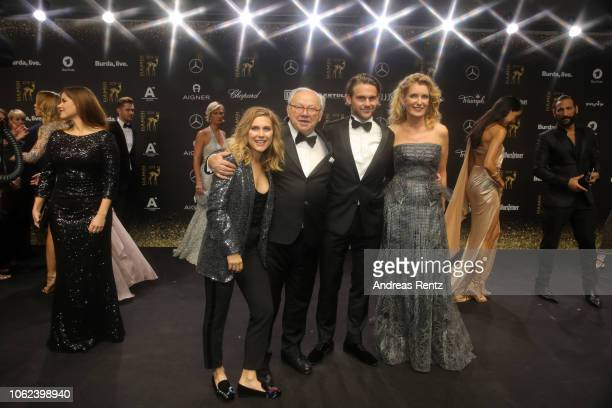 Hubert Burda and his wife Maria FurtwaenglerBurda with son Jacob and daugther Elisabeth attend the 70th Bambi Awards at Stage Theater on November 16...