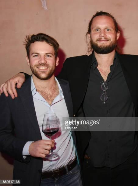 Hubert de Castelbajac and his cousin Guilhem de Castelbajac attend Nektart Wine Party at Palais de Tokyo Art Club on November 29 2017 in Paris France