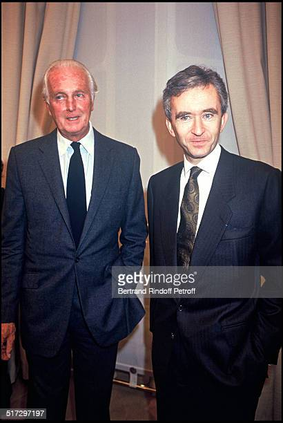 Hubert De Givenchy and Bernard Arnault Givenchy ready to wear fashion show spring summer 1994 collection in Paris