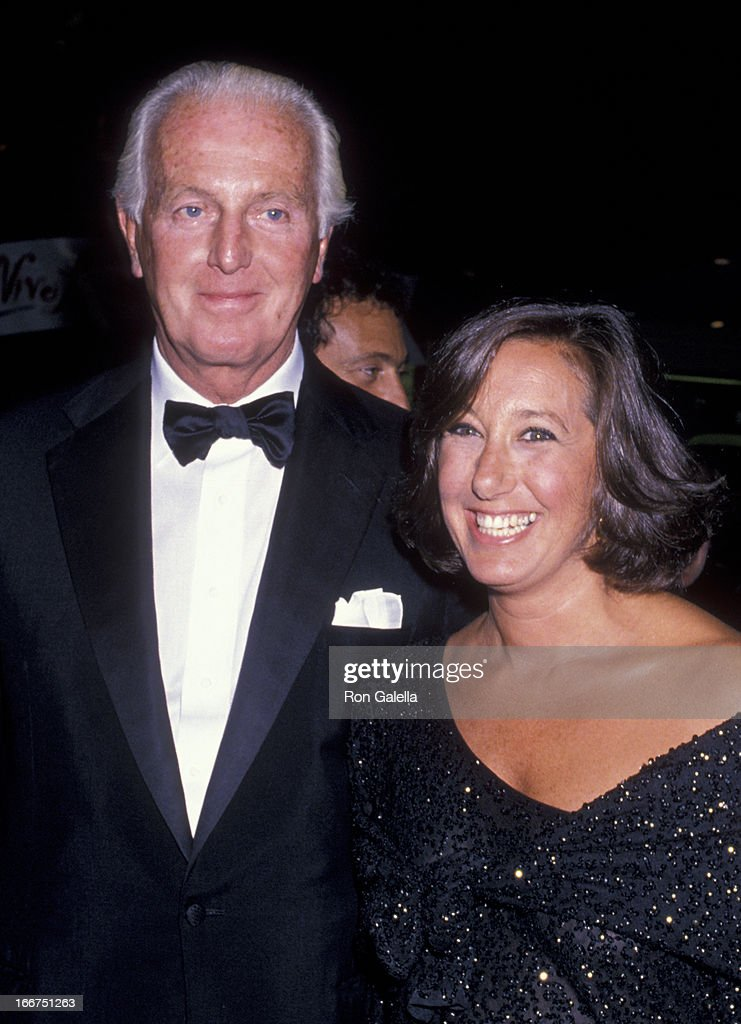 Hubert de Givenchy and Donna Karan attend Vive La France Gala on September 13, 1989 at Bloomingdale's in New York City.