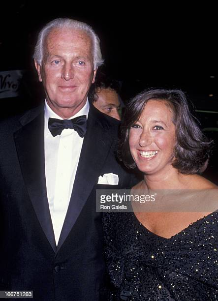 Hubert de Givenchy and Donna Karan attend Vive La France Gala on September 13 1989 at Bloomingdale's in New York City