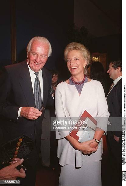 Hubert De Givenchy and Princess MarieChristine of Kent Visiting The Xix Biennale Des Antiquaires In Paris