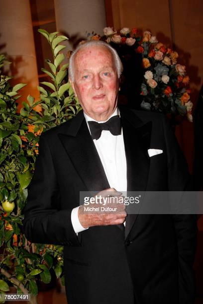 Hubert de Givenchy attends the 'When Versailles Was Furnished in Silver' opening exhibition at the Palace of Versailles on November 19 2007 in...