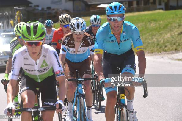 Hubert Dupont of France and Team AG2R La Mondiale / Davide Villella of Italy and Astana Pro Team / during the 42nd Tour of the Alps 2018 Stage 4 a...