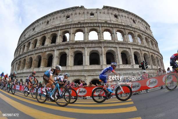 Hubert Dupont of France and Team AG2R La Mondiale / Matthieu Ladagnous of France and Team Groupama-FDJ / Colosseum / Coliseum / Roma City / Landscape...