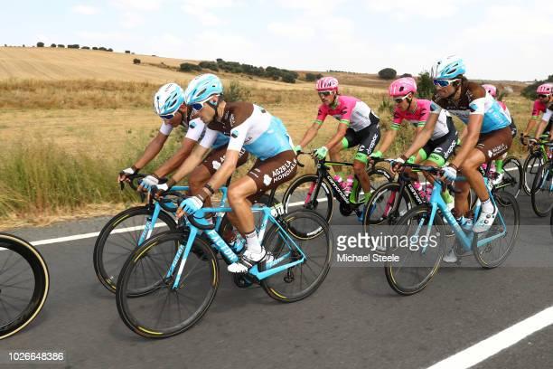 Hubert Dupont of France and Team AG2R La Mondiale / Nans Peters of France and Team AG2R La Mondiale / Ben Gastauer of Luxembourg and Team AG2R La...