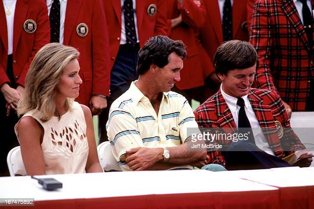 Hubert Green his wife Karen and President Mickey Powell during the 67th PGA Championship held at Cherry Hills Country Club in Englewood Colorado...