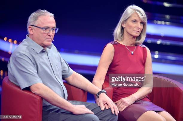 Hubert Kastner and Melanie KastnerMuhm are seen on stage during the tv show '2018 Menschen Bilder Emotionen' on December 3 2017 in Cologne Germany