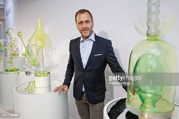Hubert le Gall attends the Hubert le Gall Vernissage At Ruinart PopUp Gallery on April 30 2015 in Berlin Germany