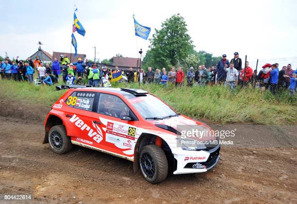 Hubert Ptaszek POL Maciej Szczepaniak POL ORLEN Team during the WRC Orlen 74 Rally Poland on June 29 2017 in Mikolajki Poland
