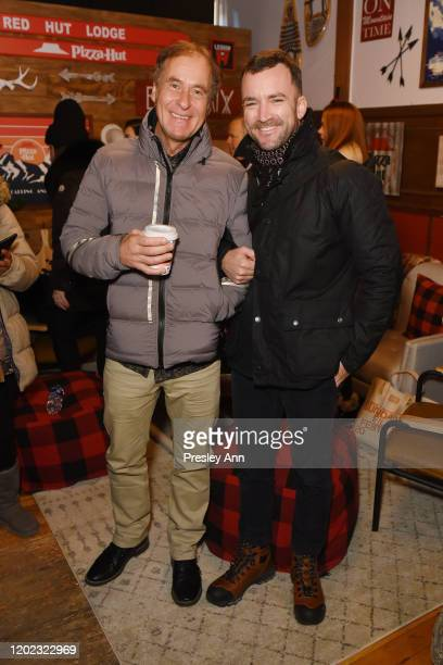Hubert Sauper and Martin Marquet of 'Epicentro' attend the Pizza Hut x Legion M Lounge during Sundance Film Festival on January 24 2020 in Park City...