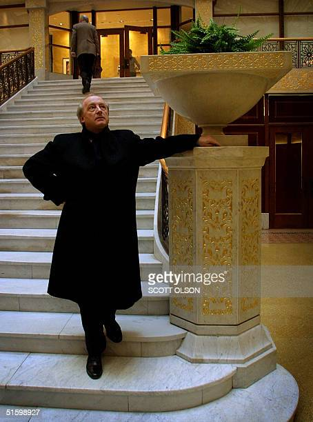 Hubert Vedrine, foreign Minister of France, admires the design of the famous Rookery building in Chicago's loop. Vedrine was given an architectural...