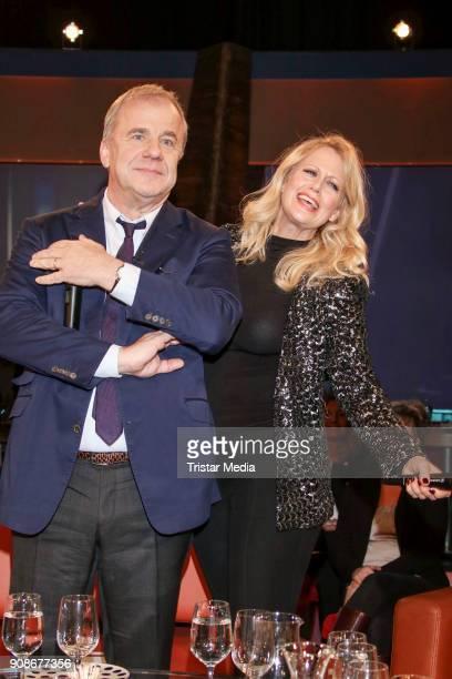 Huberts Meyer Burckhardt and Barbara Schoeneberger during the NDR Talk Show on January 19 2018 in Hamburg Germany