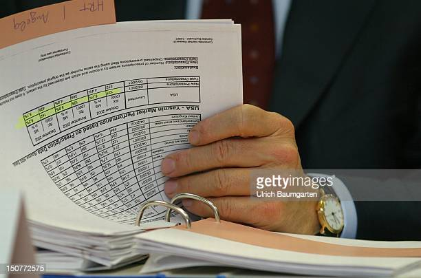 Hubertus ERLEN chief executive officer of the Schering AG reading in financial reports