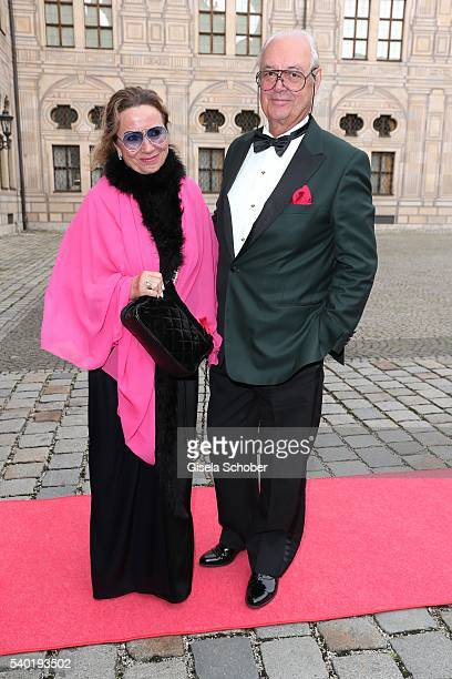 Hubertus Fuerst von FuggerBabenhausen and his wife Alexandra Fuerstin von FuggerBabenhausen during a charity dinner hosted by AMADE Deutschland and...