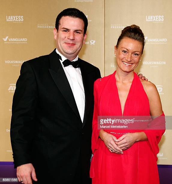 Hubertus Heil and his wife Solveig Orlowski attend the annual German media ball 'Bundespresseball' on November 28 2008 in Berlin Germany