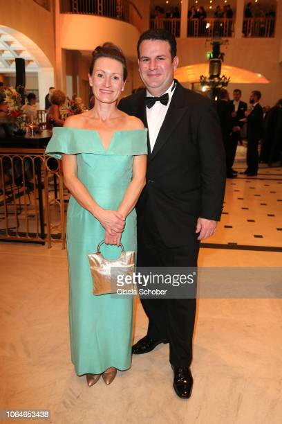 Hubertus Heil and his wife Solveig Orlowski during the 67th Bundespresseball at Hotel Adlon on November 23 2018 in Berlin Germany