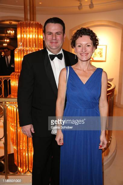 Hubertus Heil and his wife Solveig Orlowski during the 68th Bundespresseball at Hotel Adlon on November 29 2019 in Berlin Germany