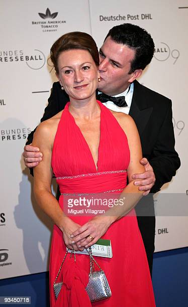 Hubertus Heil and wife Solveig Orlowski attend the annual press ball 'Bundespresseball' at the Intercontinental Hotel in Berlin on November 27 2009...