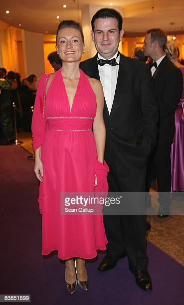 Hubertus Heil General Secretary of the German Social Democrats and his wife Solveig Orlowski attend the Bundespresseball 2008 at the Intercontinental...