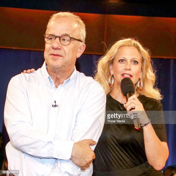Hubertus Meyer Burckhardt and Barbara Schoeneberger during the NDR Talk show on June 1 2018 in Hamburg Germany