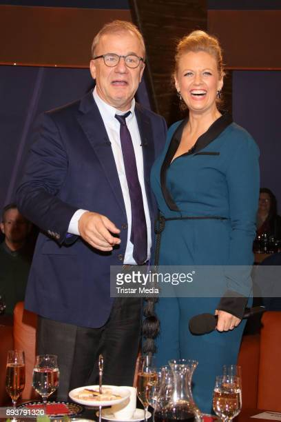 Hubertus Meyer Burckhardt and Barbara Schoeneberger during thr NDR Talk Show on December 15 2017 in Hamburg Germany