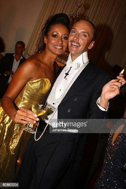Hubertus Regout and Andrea Kempter attend the 'Fabulous Celebration' at Nymphenburg Castle on September 18 2008 in Munich Germany French champagne...