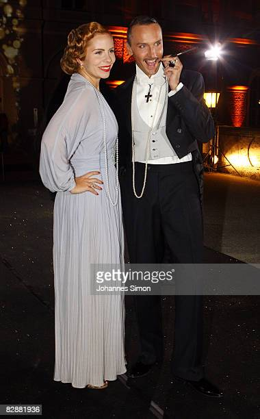 Hubertus Regout and Candy Kern attend the 'Fabulous Celebration' at Nymphenburg Castle on September 18 2008 in Munich Germany French champagne...