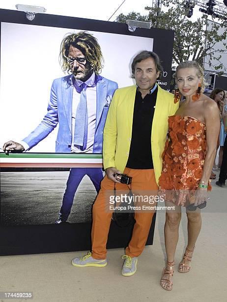 Hubertus Von Hohenlohe and his wife Simona Gandolfi attend the exhibition 'You are beautiful' by Hubertus Von Hohenlohe during Starlite Festival on...
