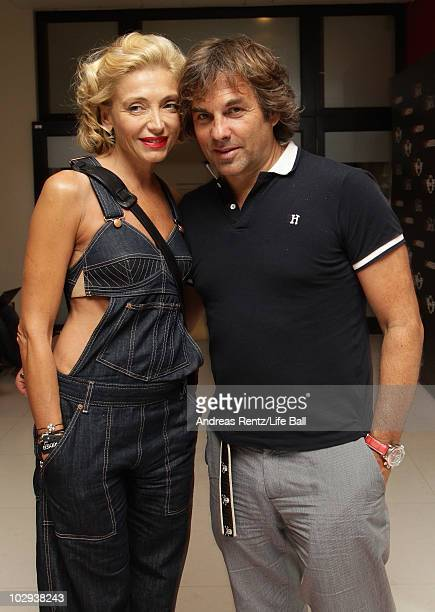 Hubertus von Hohenlohe and partner Simona Gandolfi attend the Life Ball Welcome Cocktail at the Le Meridien Hotel on July 16 2010 in Vienna Austria