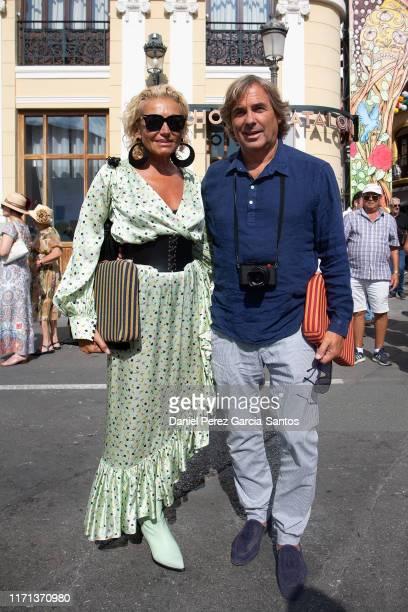 Hubertus Von Hohenlohe and Simona Gandolfi are seen arriving at Goyesca bullfights on August 31 2019 in Ronda Spain