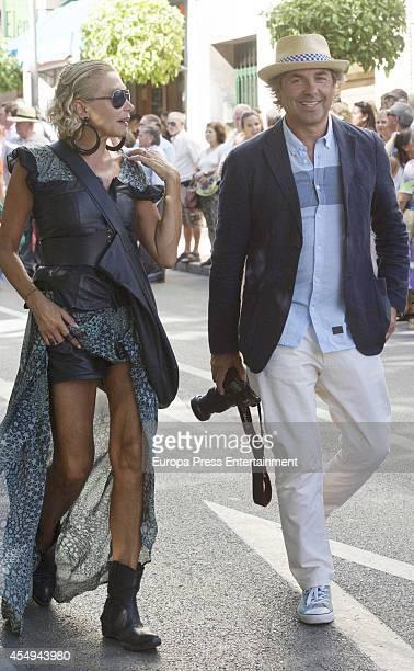 Hubertus Von Hohenlohe and Simona Gandolfi attend Goyesca Bullfights on September 6 2014 in Ronda Spain The bullfight events linked to The Feria...