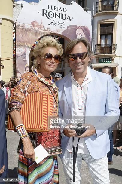 Hubertus Von Hohenlohe and Simona Gandolfi attend Goyesca Bullfights on September 10 2016 in Ronda Spain The bullfight events linked to The Feria...