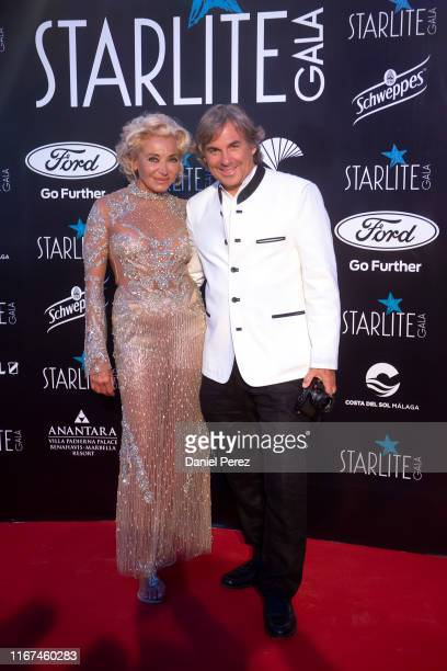Hubertus Von Hohenlohe and Simona Gandolfi attend Starlite Gala on August 11 2019 in Marbella Spain