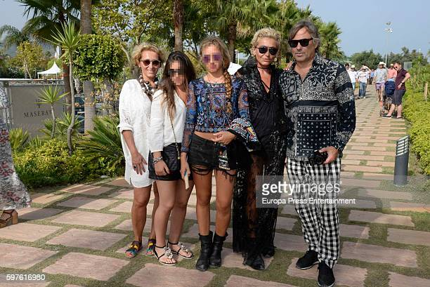 Hubertus Von Hohenlohe and Simona Gandolfi attend the Cartier Golden Cup Cup during the 45th International Polo Tournament Final on August 28 2016 in...