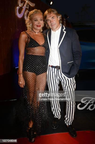 Hubertus Von Hohenlohe and Simona Gandolfi attend the Starlite Gala on August 11 2018 in Marbella Spain