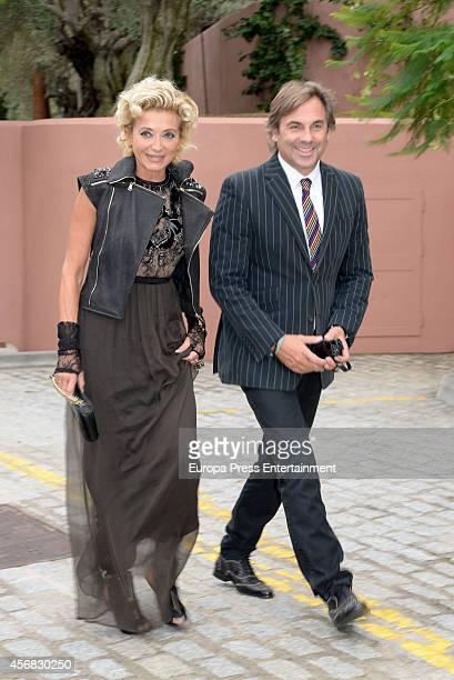 Hubertus Von Hohenlohe and Simona Gandolfi attend the wedding of Olivia de Borbon and Julian Porras on October 4 2014 in Malaga Spain